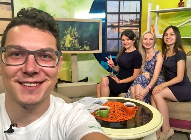 Mykolaiv members attend local TV program